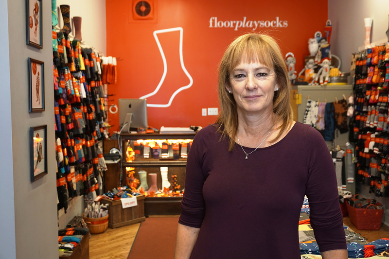 FloorPlay Socks uses social media to expand their global footprint from their shop on Queen West