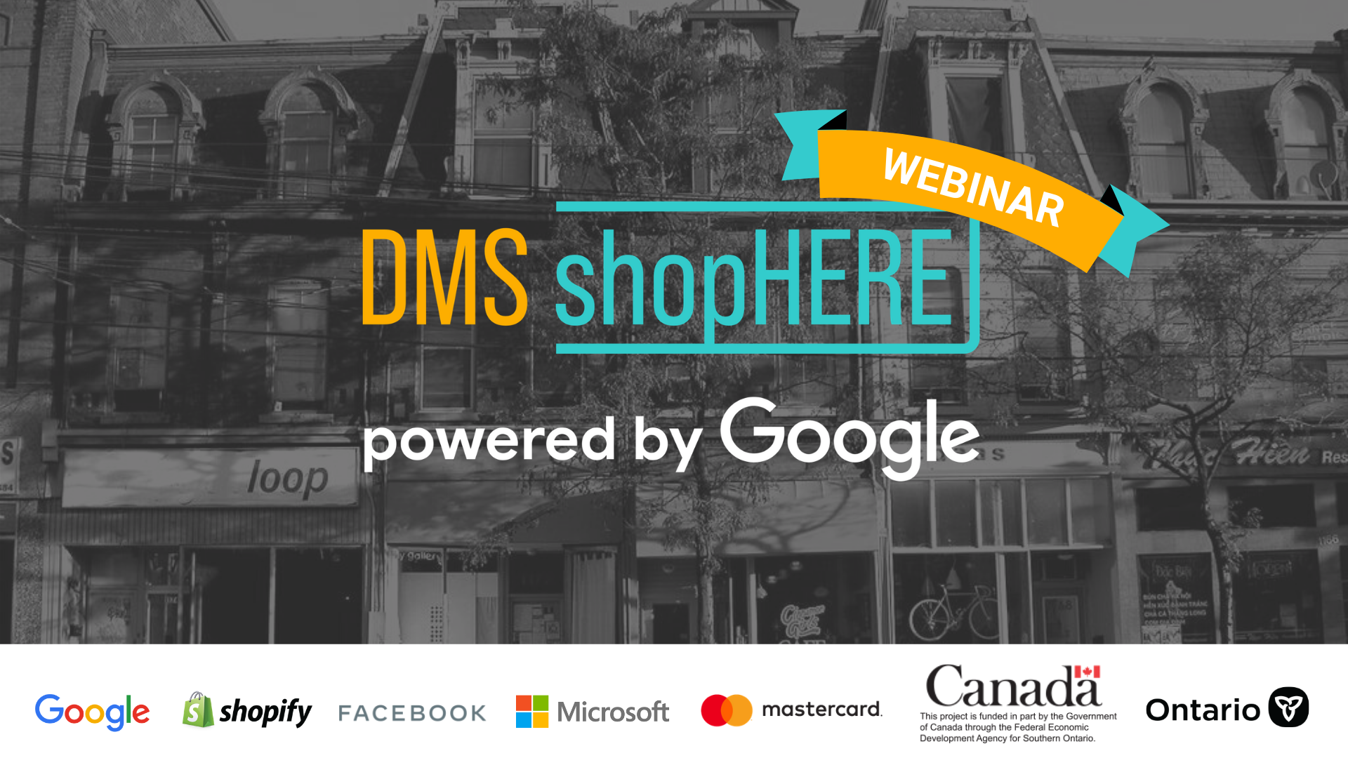 shophere weekly webinar for ecommerce businesses and artists in ontrario
