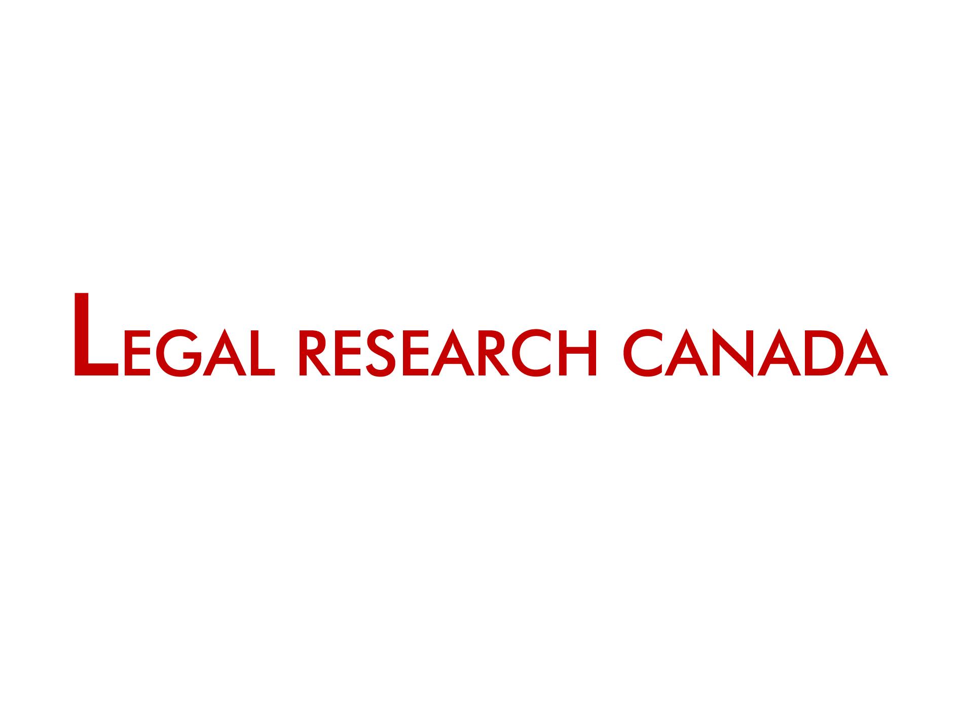 Legal Research Canada Inc